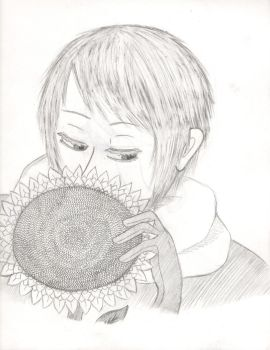 Russia And His Sunflower by SkunkCutie
