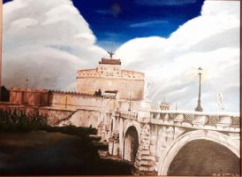 Castle and Bridge of sant'Angelo by kdrmickey