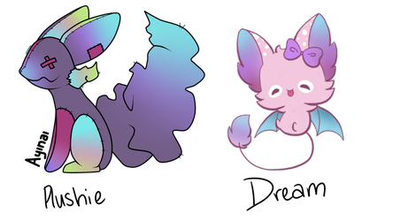 Gacha Result 'Plushie' and 'Dream' by Blithe-Adopts