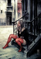 prostitute at the entranc by cellar-fcp