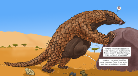 Giant pangolin vore by Greedywoozle