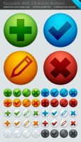 40 Web 2.0 Action Buttons .PSD by AbstraktSystem