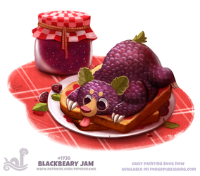 Daily Painting 1738# Blackbeary Jam by Cryptid-Creations