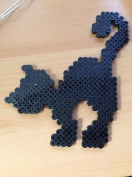 Black Cat (perler beads) by MinePonyDash