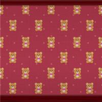 Teddy Bears And Dots (wine red) by Rosemoji