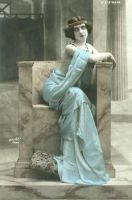 seated blue stock by cAnDiEsFoReVeRyOnE