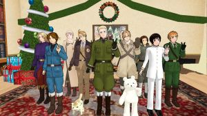 Merry christmas from the axis and allies video by Phantom-Ichigo