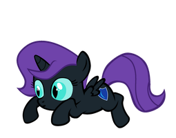Nyx On Her Belly by Bronyboy