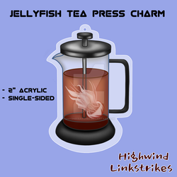 Jellyfish Tea Press Charm by smasheebanshee