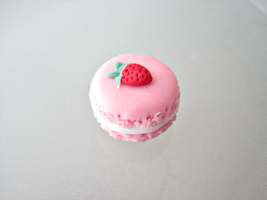 Strawberry Pink Macaron by SparkleMeHappy