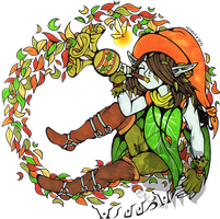 ((Badge commission)) Willow the Skullkid by Franken-Fish