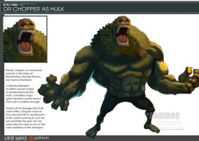 One Piece Avenger Dr Chopper as Hulk by AndiMoo