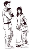 Makorra: Family Outing by NyaNanaX