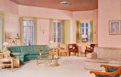 Vintage Chicago - Pink Parsonage by Yesterdays-Paper