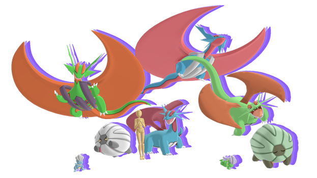 MMD - Salamence Mega Pack *DL* by Catty-Mintgum