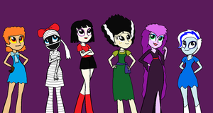 EQG Styled Lydia and the Grimwood Ghouls by Prentis-65