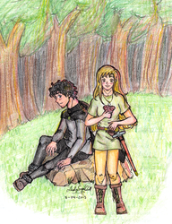 Lalaith and Glen for alkanet's contest by ladysugarquill