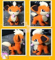 Growlithe Plushie :Commission: by Ami-Plushies
