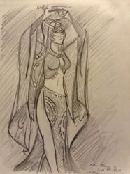 Sketch Study of Midna from Twilight Princess by DNLINK