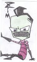 Zim Trapped In An Index Card by irkenzim123
