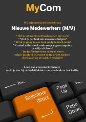 Vacature flyer MyCom by DrawingTheFamous