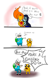 Adventure Time (Hopefully a few years later) by AdequateJ