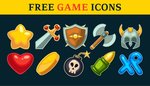 Free Action Game Icons Set by pixaroma