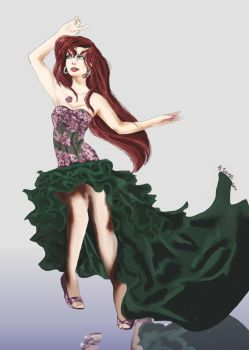 Ariel Evening Dress by CarolinaSoul