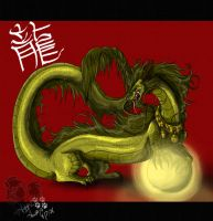 Golden Impreial Dragon by PinkScooby54