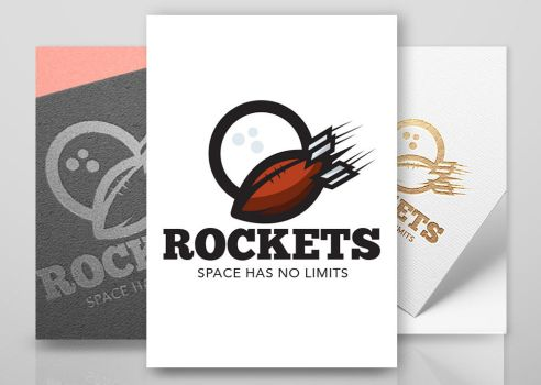 Logo football rockets by n2n44studio