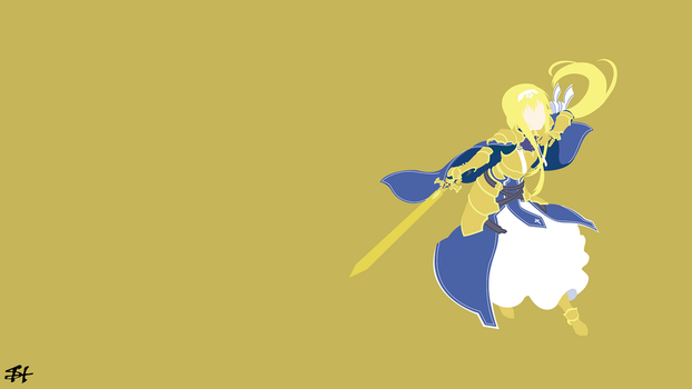 Alice Zuberg (SAO) Minimalist Wallpaper by slezzy7