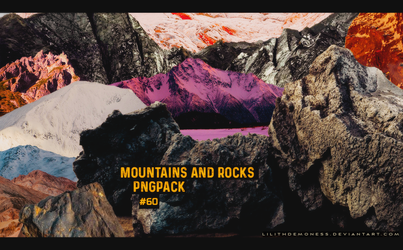 Mountains And Rocks Pngpack #60 by LilithDemoness