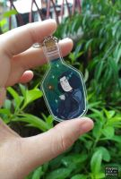 Snape Bottle keychain by staypee