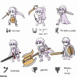 [FE x MH] FE Heroes as MonHun Weapon Types by Rukotaro