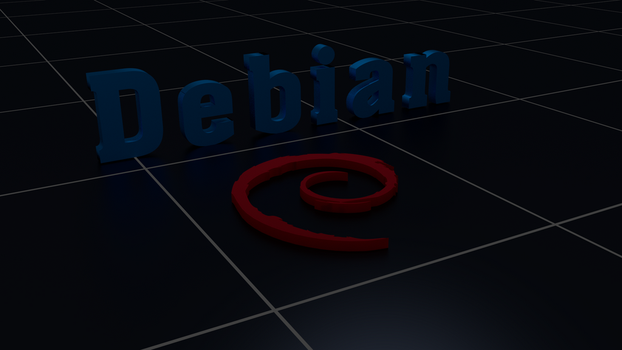 Debian Linux wallpaper Blender by Lukazoid
