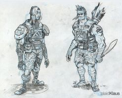 Warrior Concepts! by plaidklaus