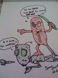Captain Corndog vs Gir by GreenUnicornArt