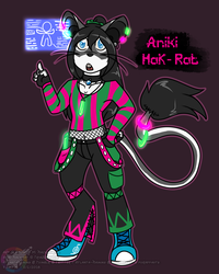 Triaddraykin Commission: Aniki Hackrat by Atlanta-Hammy