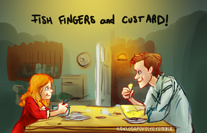 Fish fingers and custard! by ilcielocapovolto