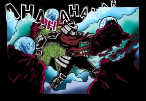 Mysterio vS Shredder by A-Deadless-Mad-Man
