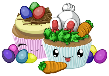 Easter Cupcakes by Lesh4537
