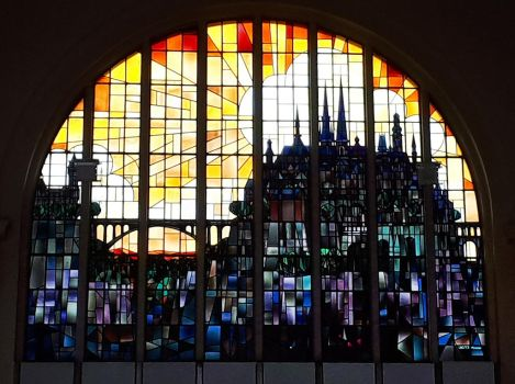 Luxembourg stained glass mural 1 by wildplaces