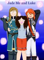 My ID Jade Me and Luke by Pink--Reptile