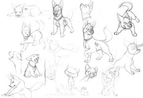 More Bolt sketches by tigrin