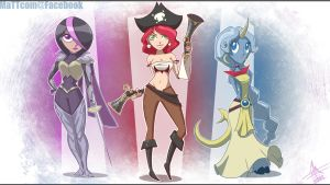 Toon Fiora, Miss Fortune and Soraka by MaTTcomGO
