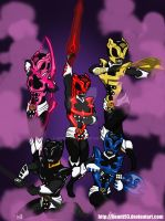 Psycho Rangers (w/Weapons) by bsmit93