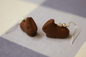 Chocolate Bunny earrings by Sandien