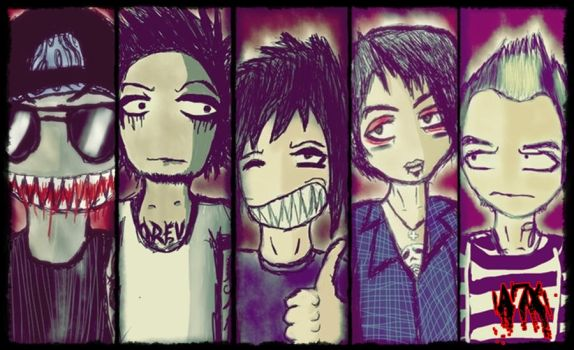 Avenged Sevenfold Toon's by InfinityHellYeah