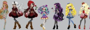 Ever After High Girls by AzZzAeLL