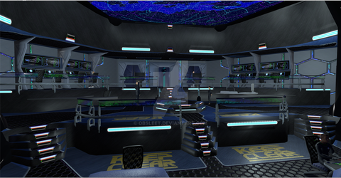 Bridge of the Star Ship Torrent by obsleet